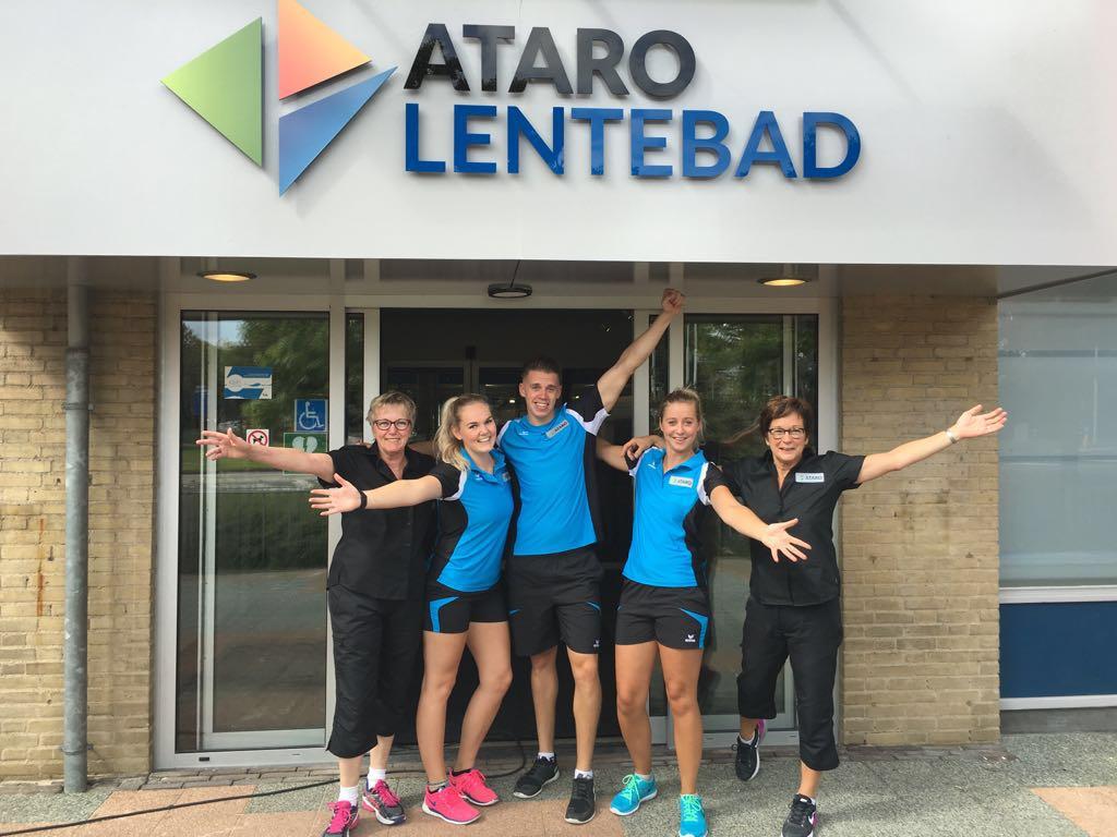 Entree Lentebad met nieuwe logo