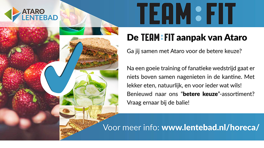 Team Fit, gezond eten, Ataro BV, Lentebad
